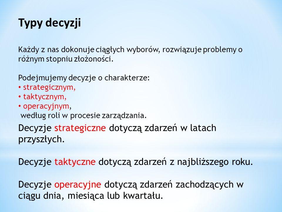 1.Targalski J.:Podejmowanie decyzji.Organizacja i zarządzanie, pod red.