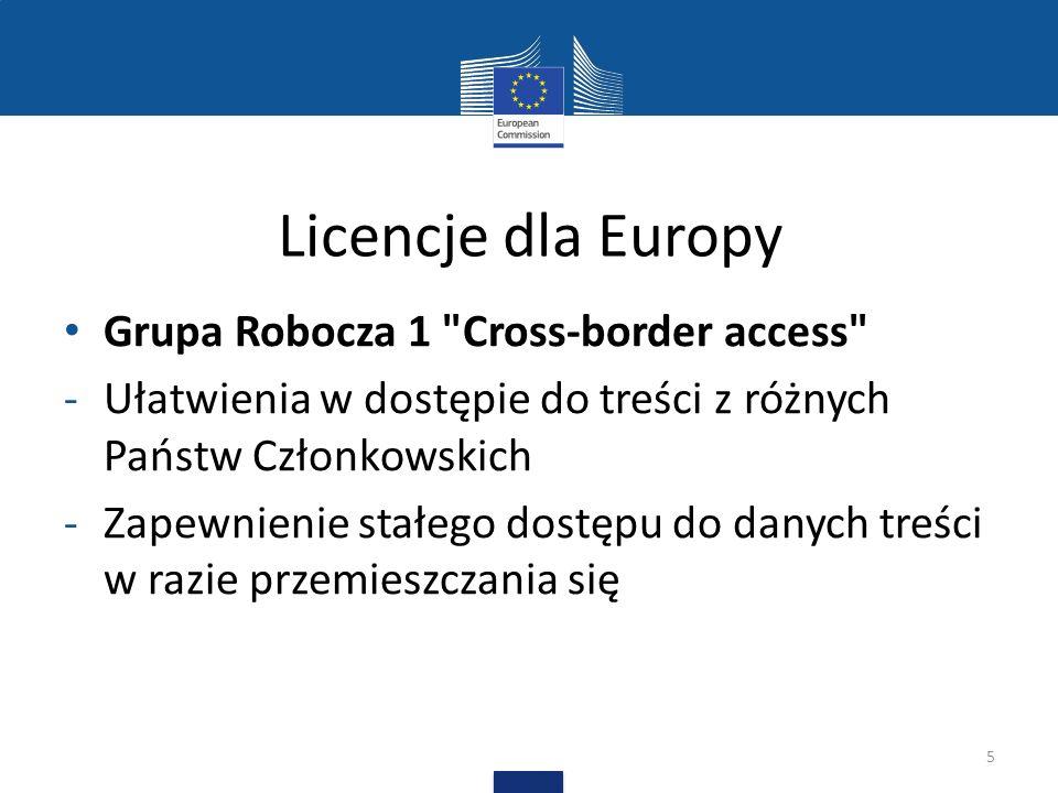 Licencje dla Europy Grupa Robocza 1
