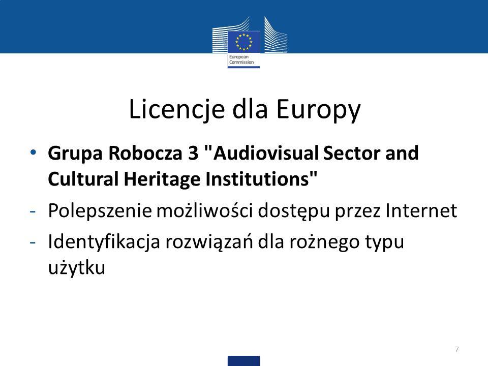 Licencje dla Europy Grupa Robocza 4 Text- and Data- mining - Identyfikacja najlepszych rozwiązań umożliwiających TDM 8