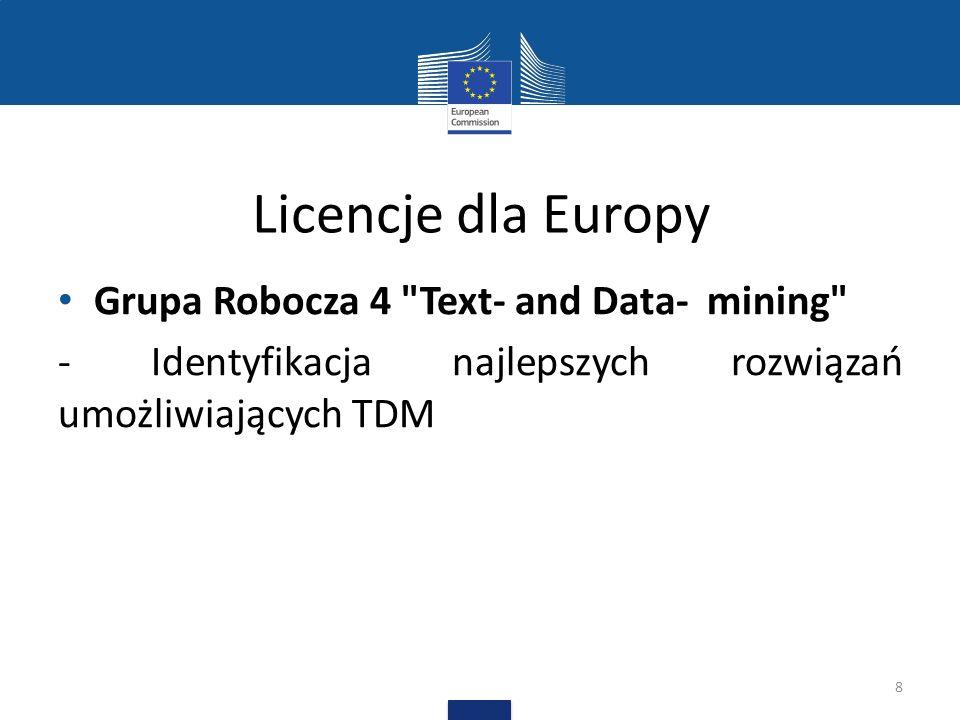 Licencje dla Europy Grupa Robocza 4