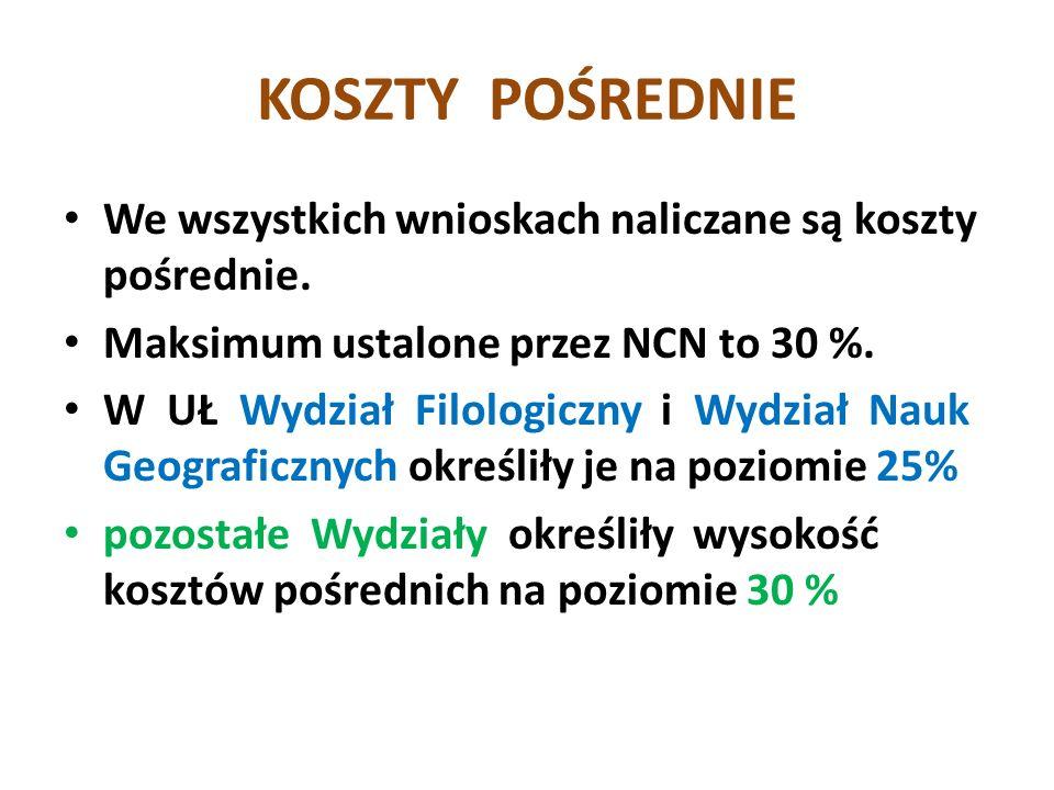 Termin składania wniosków do Biura Nauki: do 5 czerwca 2013 r.
