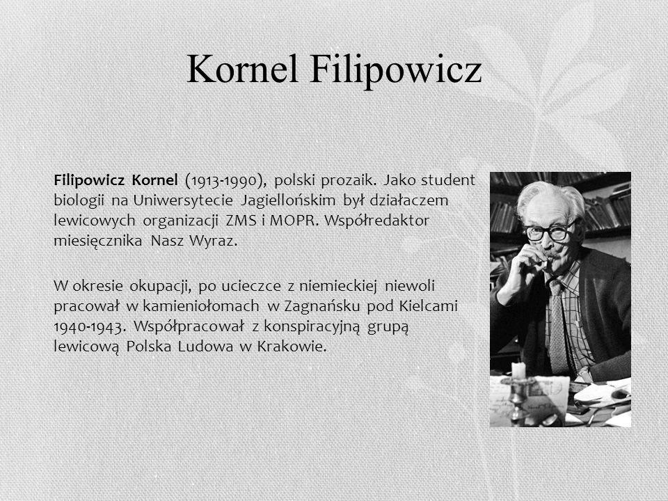 Kornel Filipowicz Filipowicz Kornel (1913-1990), polski prozaik.
