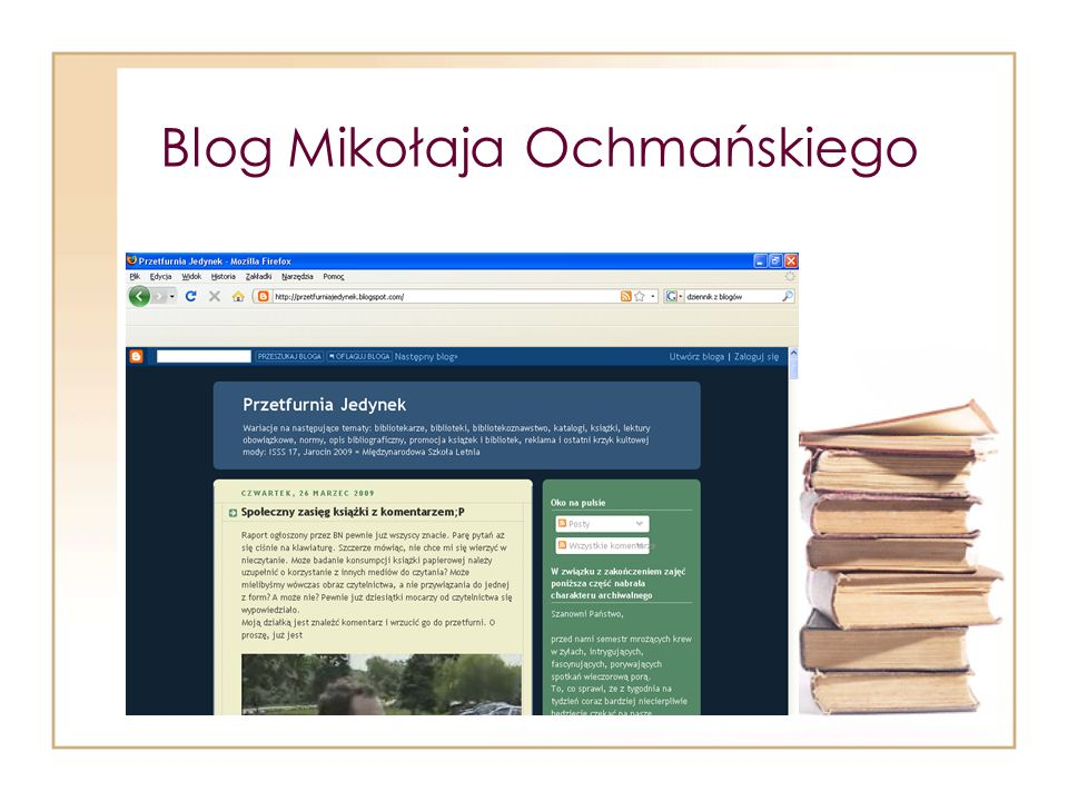 Blog Mikołaja Ochmańskiego