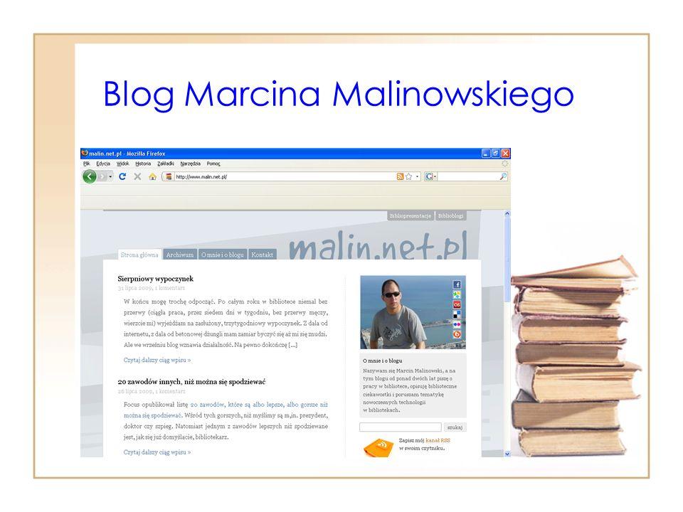 Blog Marcina Malinowskiego