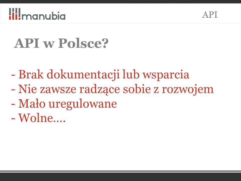 API w Polsce.