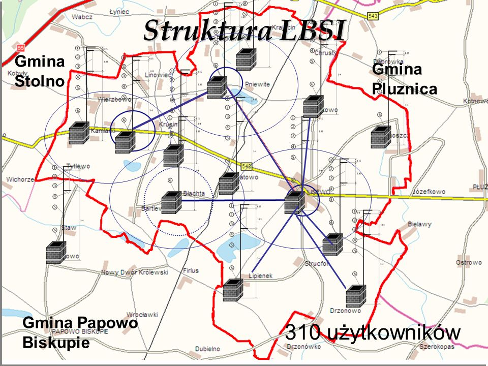 Struktura LBSI Gmina Papowo Biskupie Gmina Pluznica Gmina Stolno 310 użytkowników