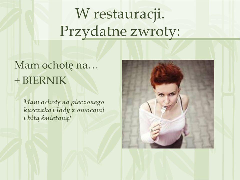 W restauracji.