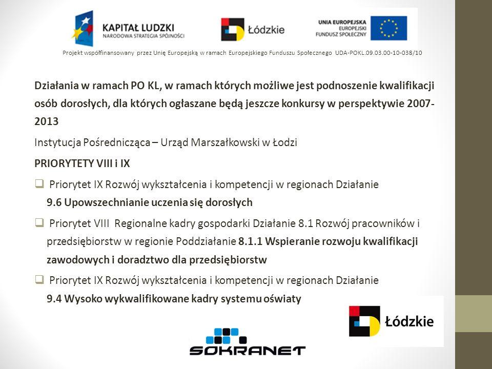 Harmonogram konkursów PO KL na IV kwartał 2012 cz.