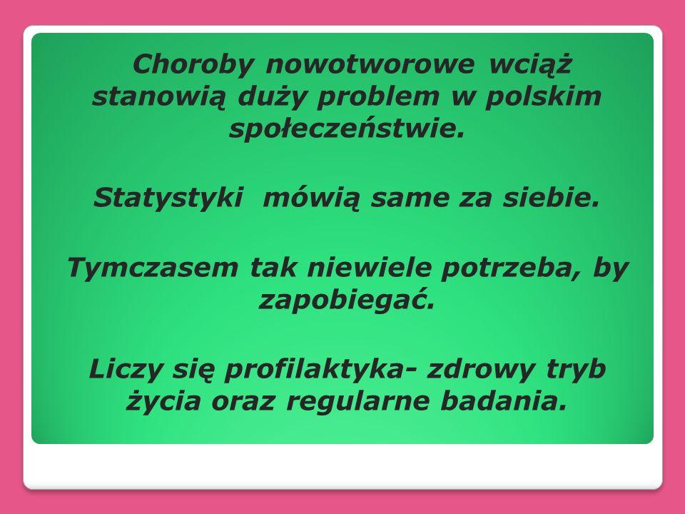 Choroby nowotworowe wciąż stanowią duży problem w polskim społeczeństwie. Statystyki mówią same za siebie. Tymczasem tak niewiele potrzeba, by zapobie