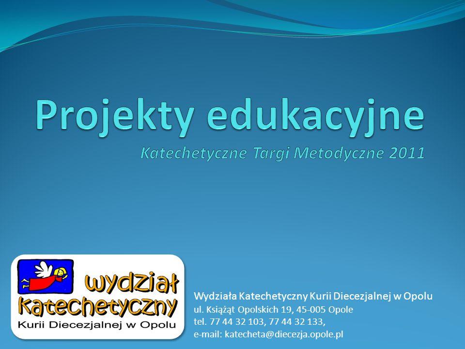 Projekty edukacyjne Wydział Katechetyczny zrealizował dwa projekty edukacyjne: Biblia w każdej szkole (2004/05) w którym wzięli udział uczniowie i nauczyciele reprezentujący 200 szkół podstawowych i gimnazjów na terenie Diecezji Opolskiej i kilkadziesiąt z Diecezji Gliwickiej i Bielsko-Żywieckiej.
