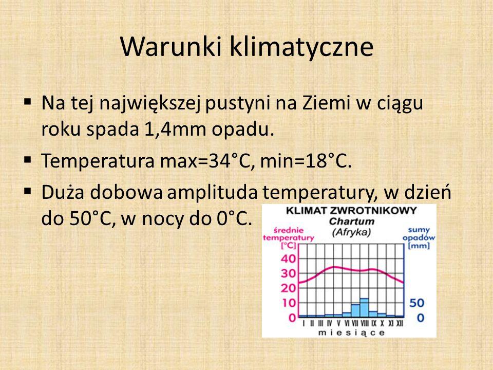 Rodzaje pustyń- przyczyny powstawania Przyczyną powstawania jest wietrzenie skał na skutek: o Dobowych, gwałtownych zmian temperatury.