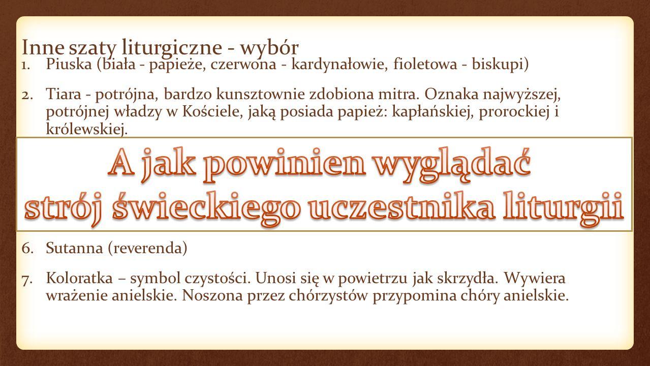 Księgi liturgiczne 1.Mszał Rzymski (Missale Romanum) 2.Lekcjonarz 3.Ewangeliarz 4.Rytuał 5.Pontyfikał 6.Agenda liturgiczna 7.Brewiarz (Liturgia Godzin)