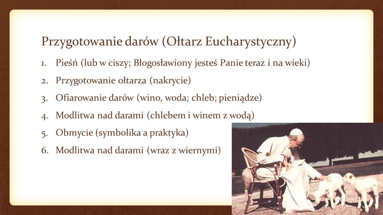 Prefacja 1.Dialog przed prefacją 2.Prefacja (wybór) 3.Sanctus 4.Benedictus (niegdyś oddzielnie od Sanctus) Sursum corda.