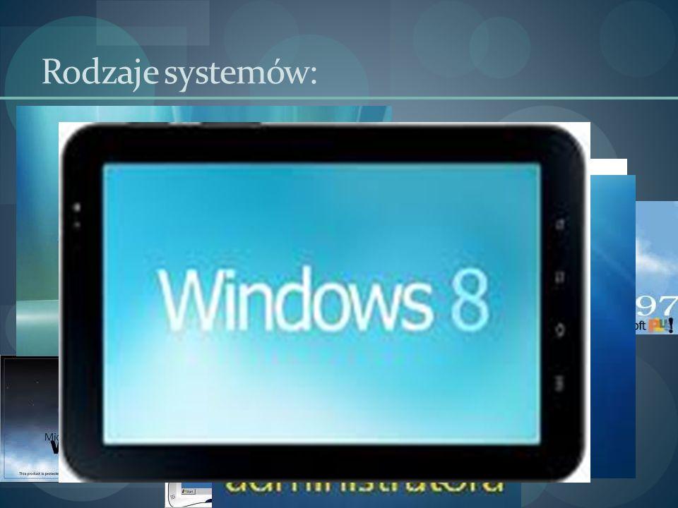Rodzaje systemów: Windows: