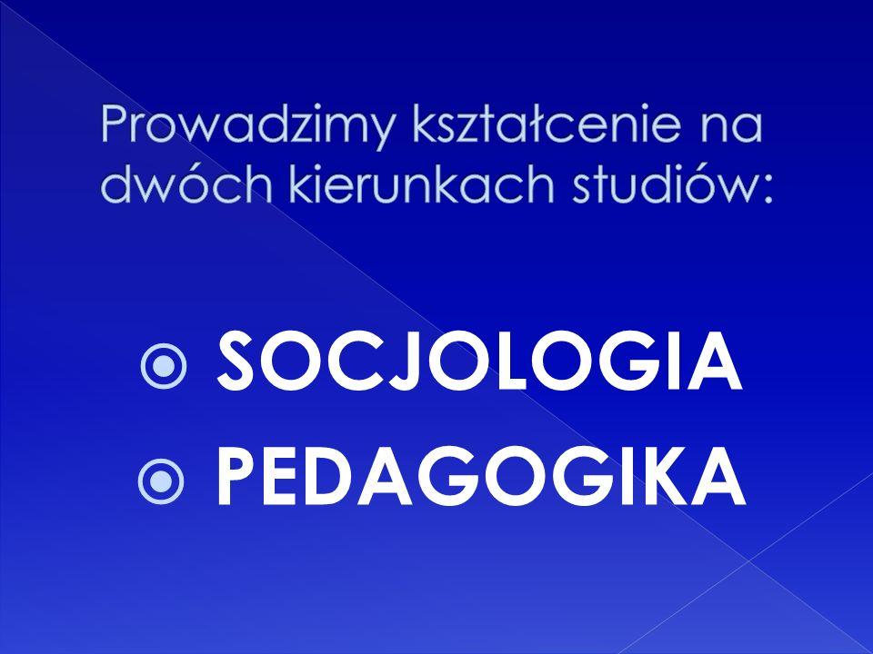 Absolwenci są przygotowani do: samodzielnej i zespołowej realizacji badań społecznych posiadają umiejętności komunikacji, mediacji, negocjacji są przygotowani do projektowania, realizowania, monitorowania i oceniania programów służących rozwiązywaniu bieżących problemów społecznych