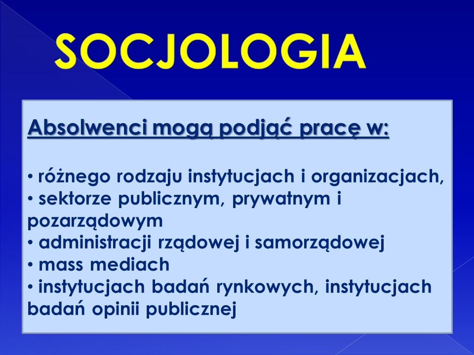 Specjalności: socjologia polityki i stosunków międzynarodowych Socjologia spraw publicznych komunikacja społeczna