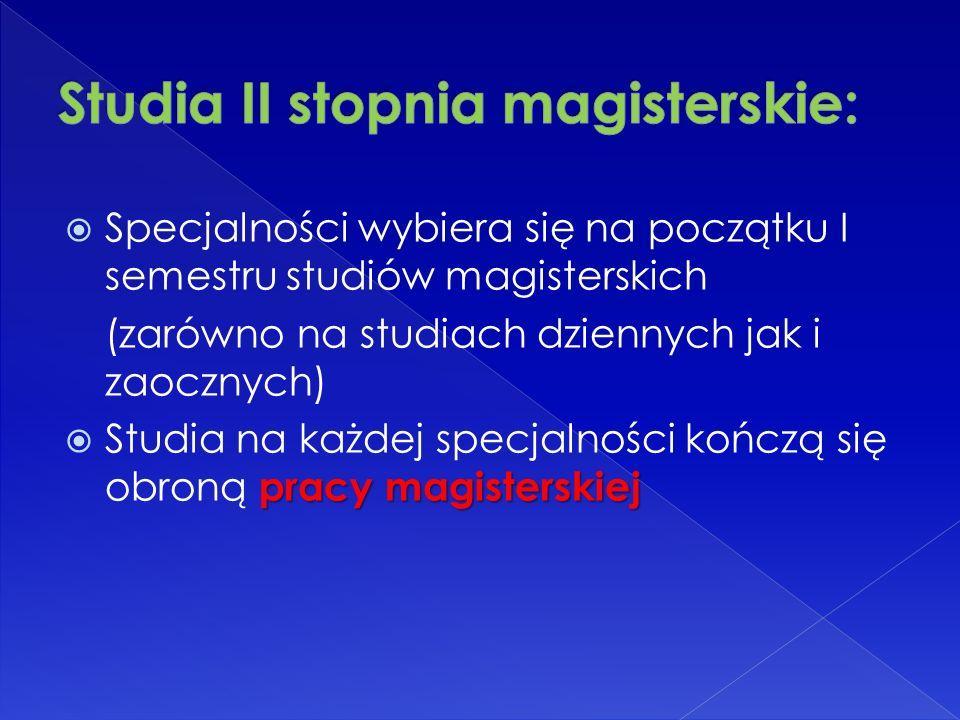 SZCZEGÓŁOWE INFORMACJE NA TEMAT REKRUTACJI www.sggw.pl