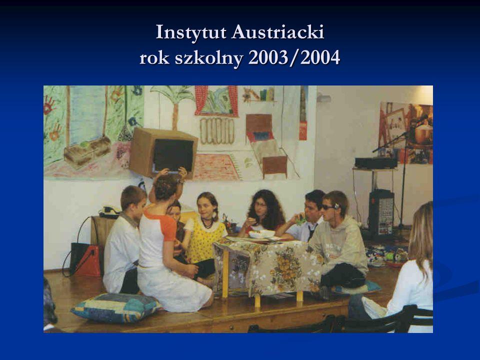 Instytut Austriacki rok szkolny 2003/2004