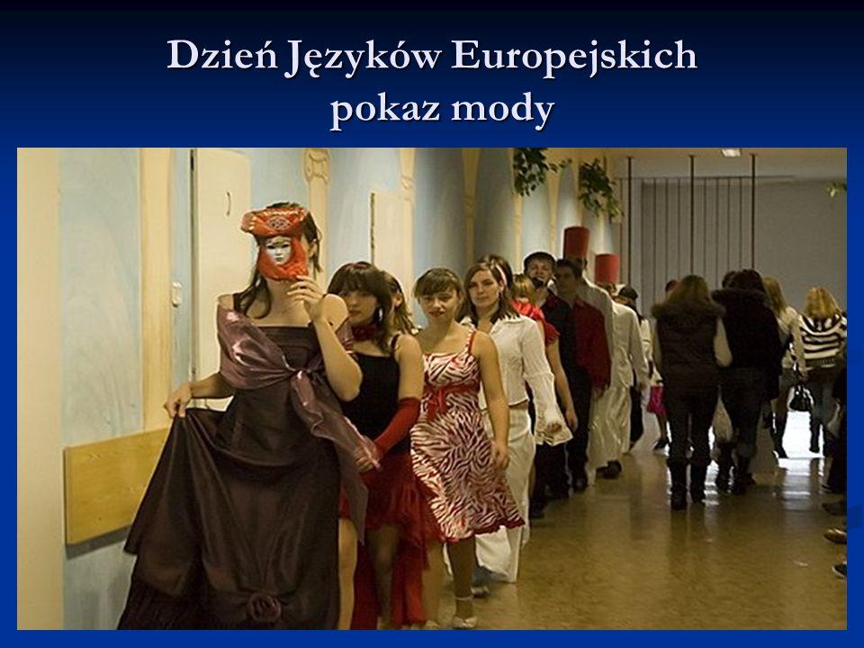 Dzień Języków Europejskich pokaz mody
