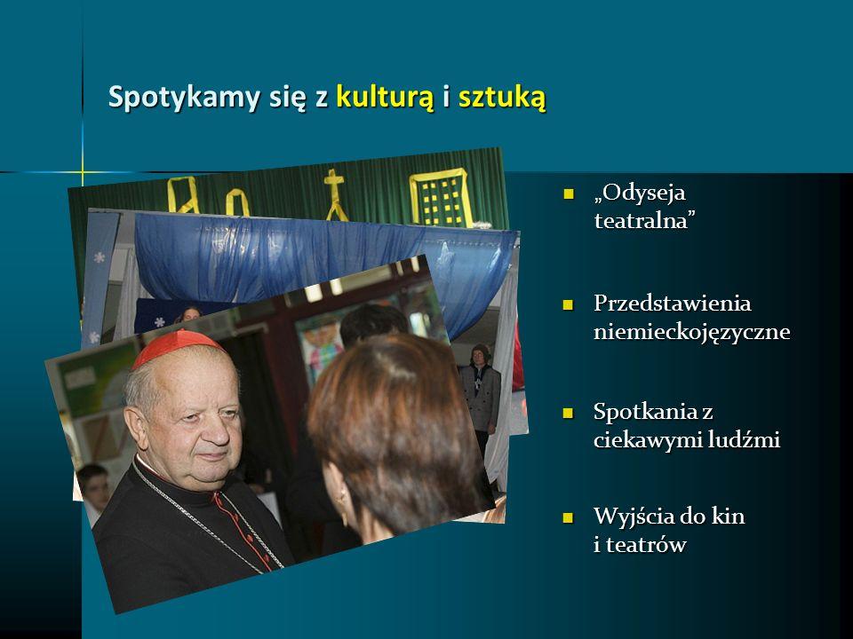 Spotykamy się z kulturą i sztuką Odyseja teatralna Odyseja teatralna Przedstawienia niemieckojęzyczne Przedstawienia niemieckojęzyczne Wyjścia do kin