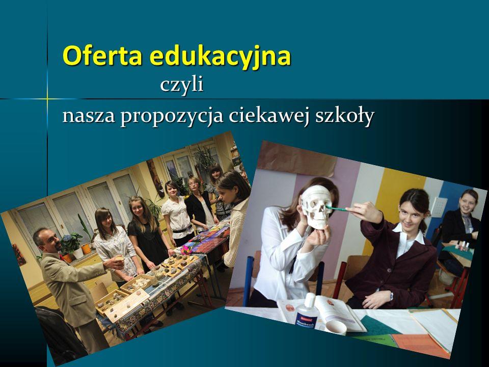 Oferta edukacyjna czyli nasza propozycja ciekawej szkoły
