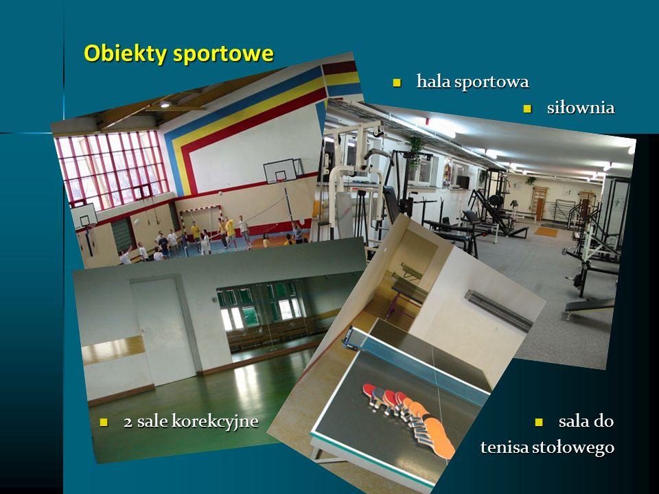 Obiekty sportowe siłownia siłownia 2 sale korekcyjne 2 sale korekcyjne sala do sala do tenisa stołowego hala sportowa hala sportowa