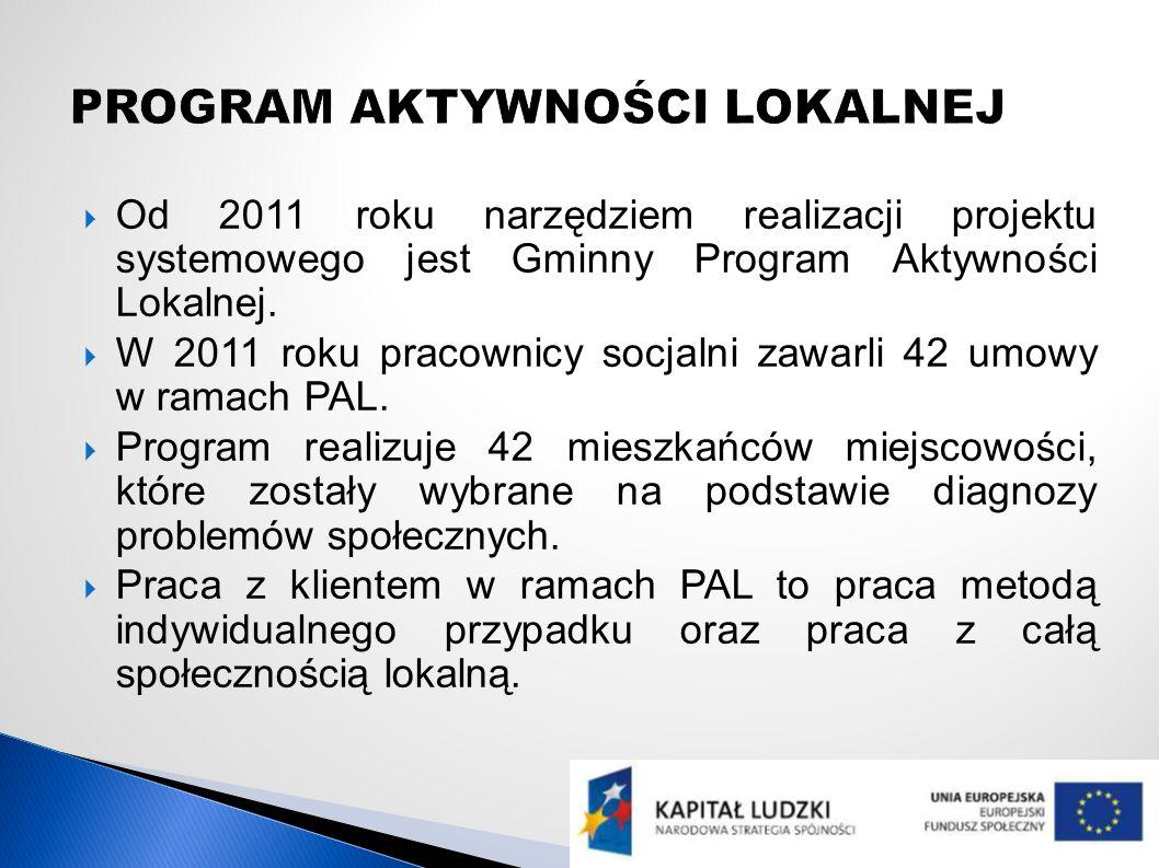 Od 2011 roku narzędziem realizacji projektu systemowego jest Gminny Program Aktywności Lokalnej.
