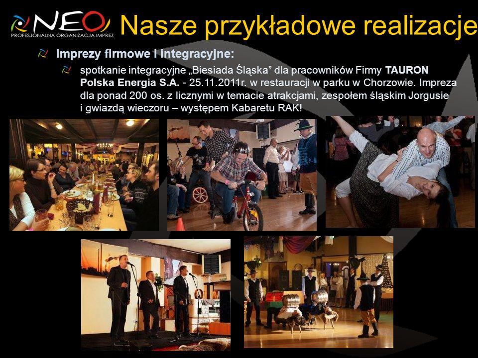 Imprezy firmowe i integracyjne: spotkanie integracyjne Biesiada Śląska dla pracowników Firmy TAURON Polska Energia S.A.