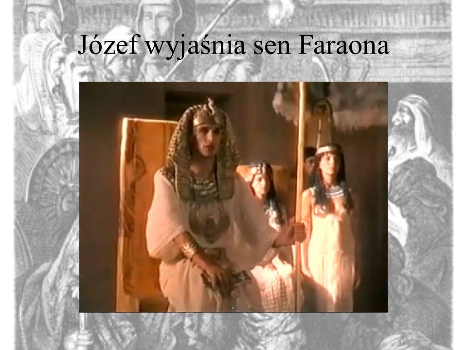 Józef wyjaśnia sen Faraona