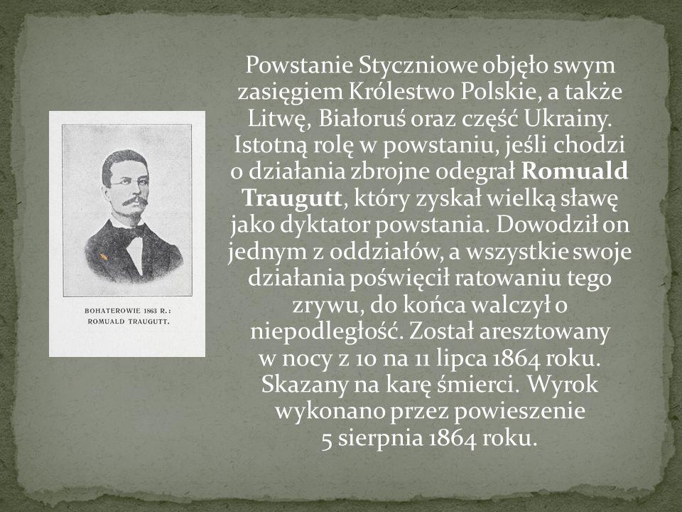 Powstanie Styczniowe objęło swym zasięgiem Królestwo Polskie, a także Litwę, Białoruś oraz część Ukrainy. Istotną rolę w powstaniu, jeśli chodzi o dzi