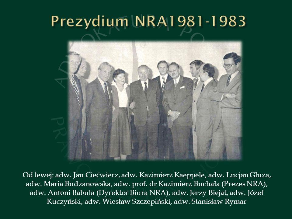 Od lewej: adw.Jan Ciećwierz, adw. Kazimierz Kaeppele, adw.