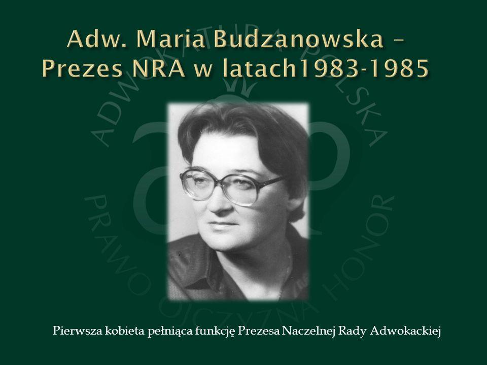 Pierwsza kobieta pełniąca funkcję Prezesa Naczelnej Rady Adwokackiej