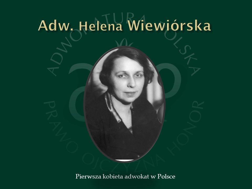 Pierwsza kobieta adwokat w Polsce