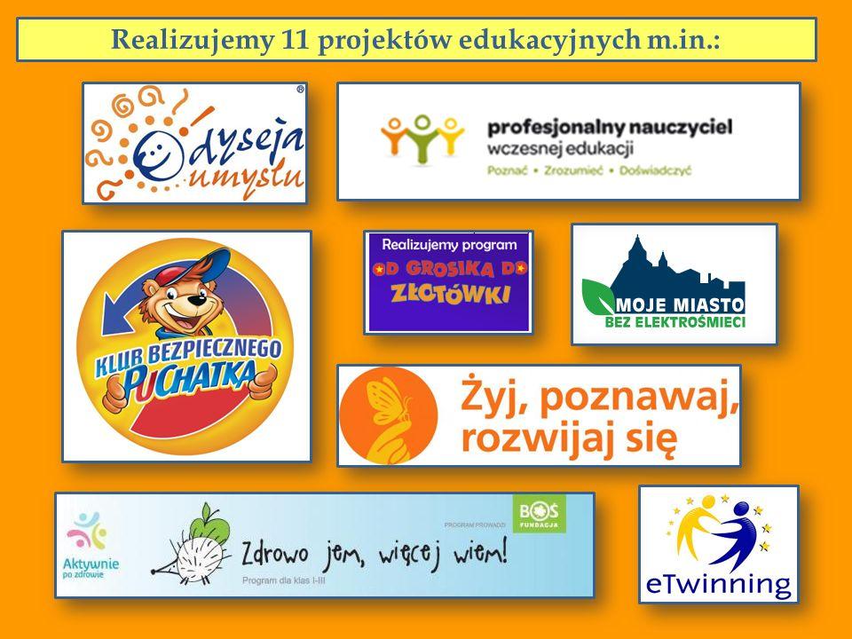 Realizujemy 11 projektów edukacyjnych m.in.: