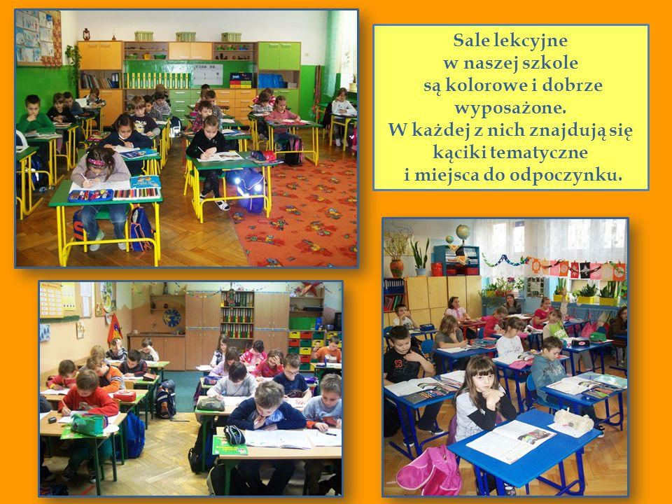 Sale lekcyjne w naszej szkole są kolorowe i dobrze wyposażone. W każdej z nich znajdują się kąciki tematyczne i miejsca do odpoczynku.