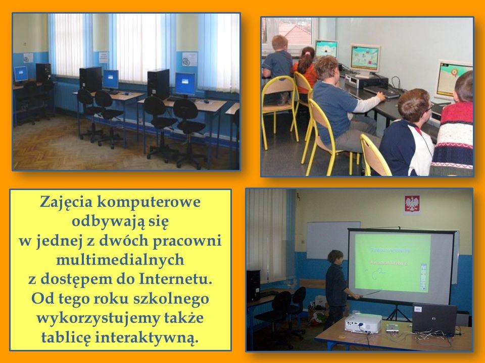 Zajęcia komputerowe odbywają się w jednej z dwóch pracowni multimedialnych z dostępem do Internetu. Od tego roku szkolnego wykorzystujemy także tablic