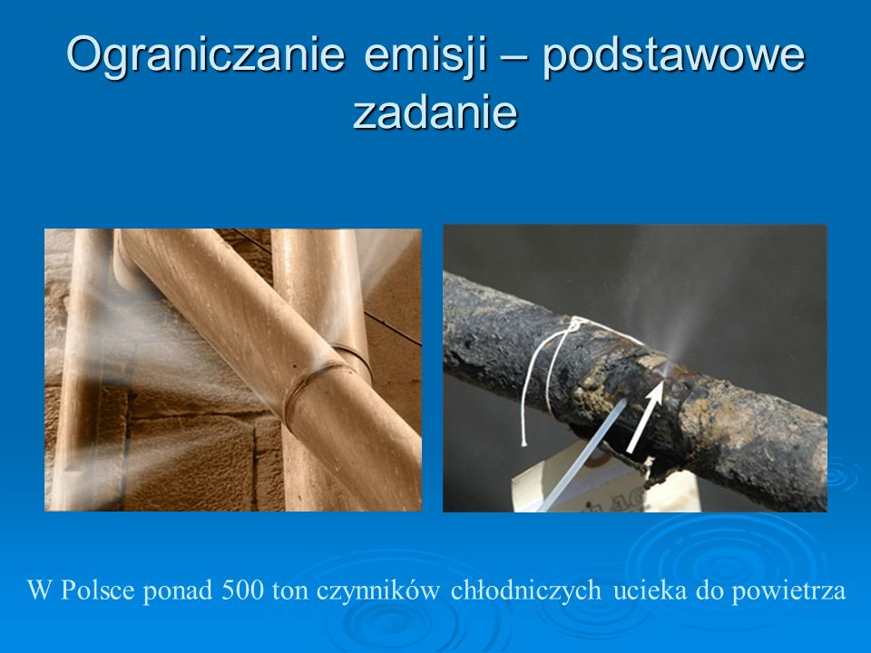 Przykłady kar dla użytkownika: Kto nie dokona tak szybko, jak to jest możliwe naprawy wszelkich wykrytych wycieków, podlega karze grzywny nie niższej, niż 1.000 zł.