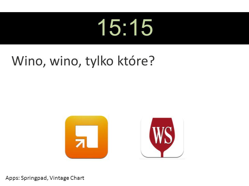 15:15 Wino, wino, tylko które? Apps: Springpad, Vintage Chart