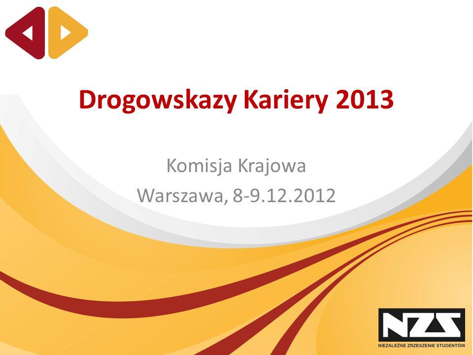 Drogowskazy Kariery 2013 Komisja Krajowa Warszawa, 8-9.12.2012
