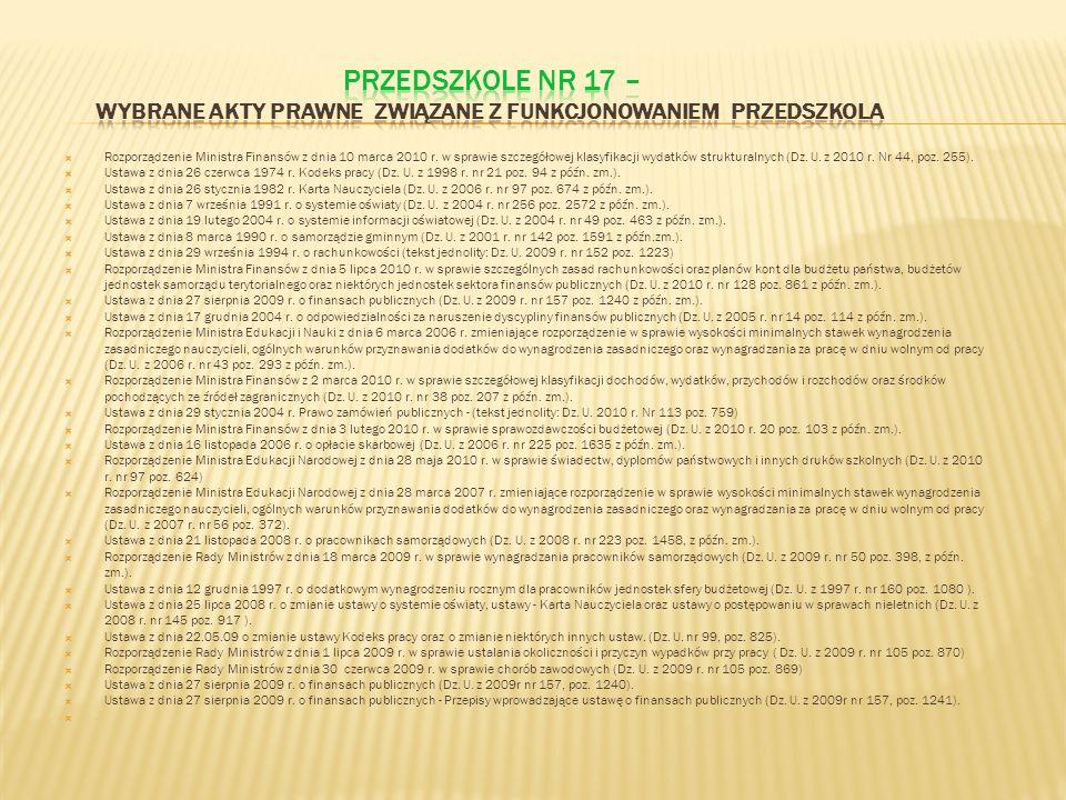 Rozporządzenie Ministra Finansów z dnia 10 marca 2010 r. w sprawie szczegółowej klasyfikacji wydatków strukturalnych (Dz. U. z 2010 r. Nr 44, poz. 255