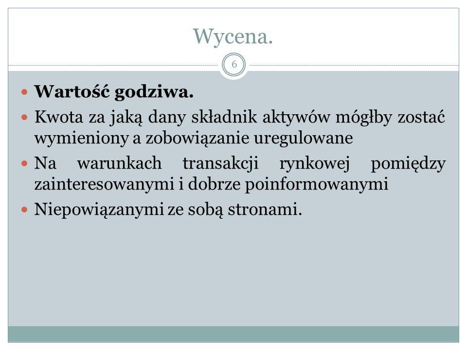 Wycena. 7