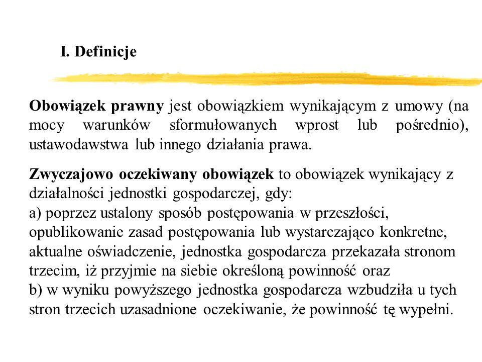 I. Definicje Obowiązek prawny jest obowiązkiem wynikającym z umowy (na mocy warunków sformułowanych wprost lub pośrednio), ustawodawstwa lub innego dz