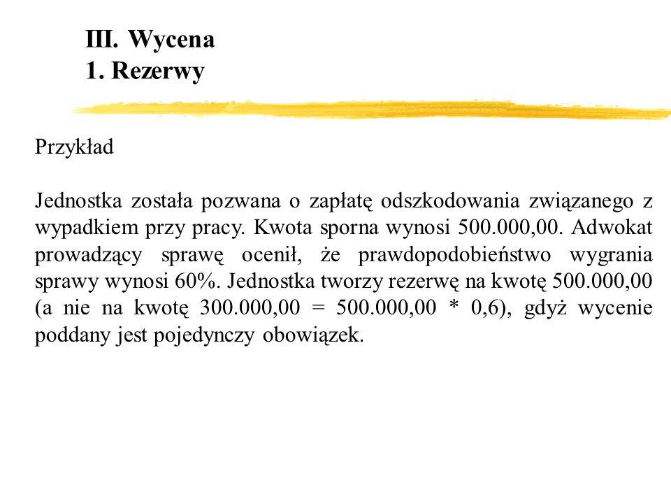 Przykład Jednostka została pozwana o zapłatę odszkodowania związanego z wypadkiem przy pracy. Kwota sporna wynosi 500.000,00. Adwokat prowadzący spraw