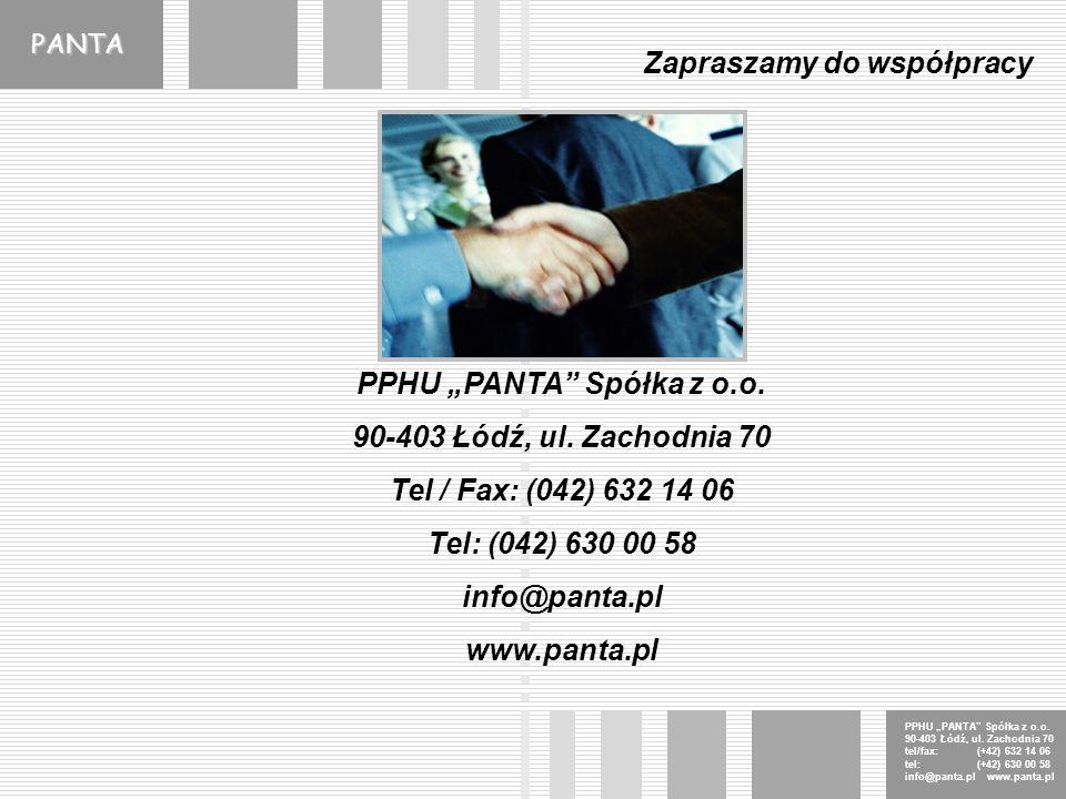 PANTA PPHU PANTA Spółka z o.o. 90-403 Łódź, ul.