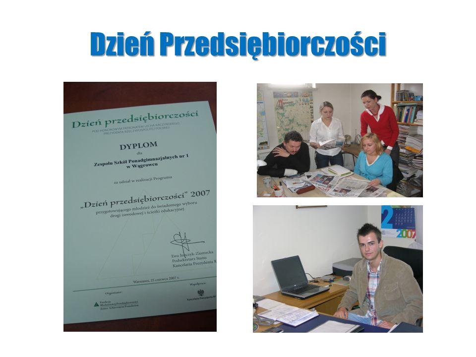 Zawodowe peregrynacje w Zespole Szkó ł Ponadgimnazjalnych Nr 1 w W ą growcu