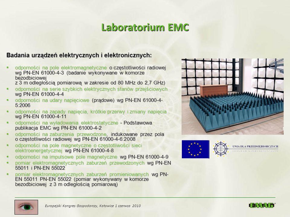 Laboratorium EMC Badania urządzeń elektrycznych i elektronicznych: odporności na pole elektromagnetyczne o częstotliwości radiowej wg PN-EN 61000-4-3