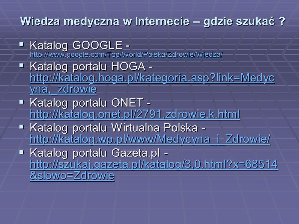 Wiedza medyczna w Internecie – gdzie szukać .