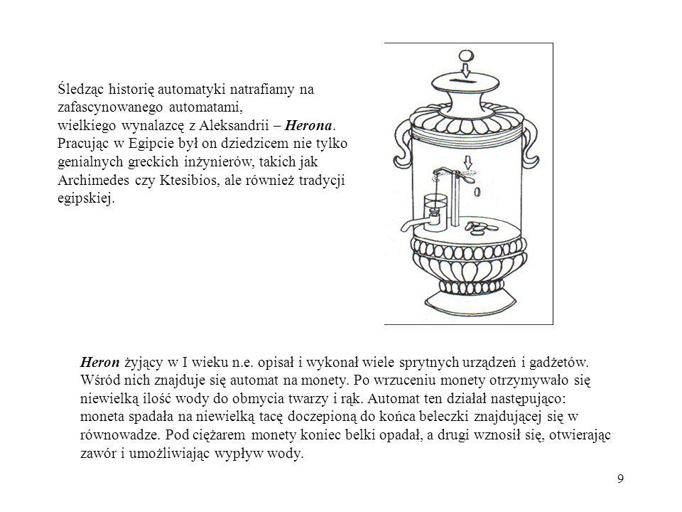 20 e(t)e(t) + w(t)w(t) u(t)u(t) y(t)y(t) Regulator Obiekt _ z(t)z(t) Nastawnik Siłownik Czujnik Przetwornik Element pomiarowy Element wykonawczy Schemat blokowy układu sterowania w ujęciu przemysłowym Obiekt sterowania