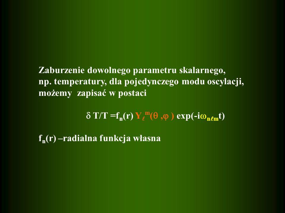 Zaburzenie dowolnego parametru skalarnego, np.