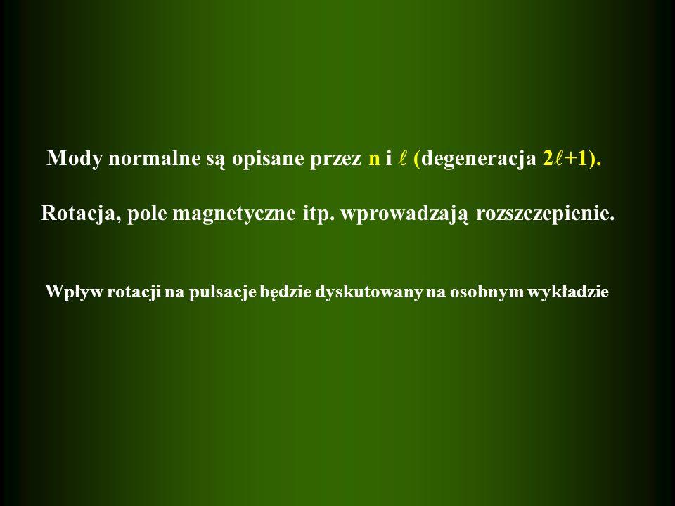 Mody normalne są opisane przez n i (degeneracja 2 +1).